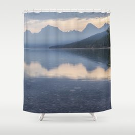 Early Morning at Lake McDonald - Glacier NP Shower Curtain