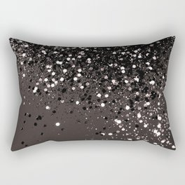 Blush Gray Black Lady Glitter #2 #shiny #decor #art #society6 Rectangular Pillow