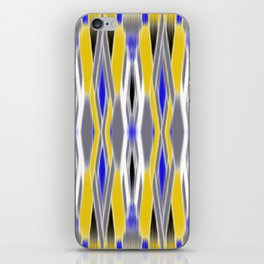 ikat geo in yellow with a splash of blue iPhone Skin