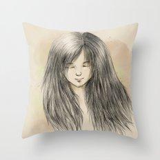 hair dreams Throw Pillow