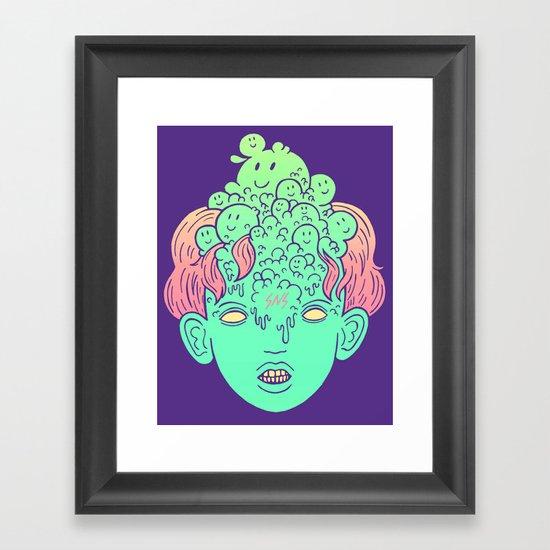 brain parasites Framed Art Print
