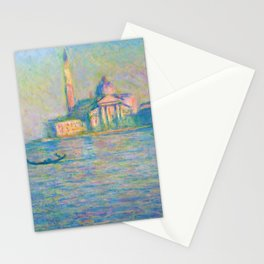 Claude Monet - The church of San Giorgio Maggiore, Venice - Digital Remastered Edition Stationery Cards