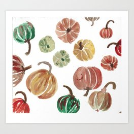pre-pie pumpkins Art Print
