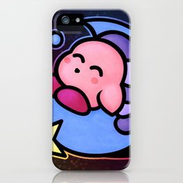 Kirby Sleep (no text) iPhone Case