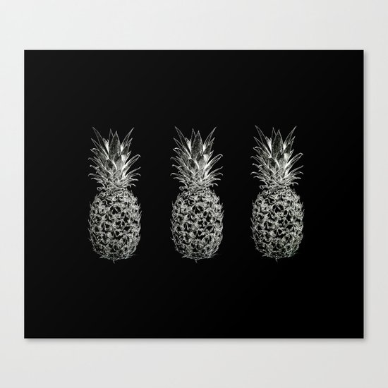 Serious Pineapples Canvas Print