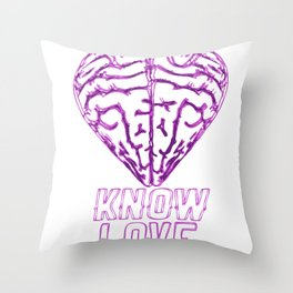 Know Love Throw Pillow