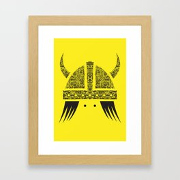 Yellow Viking Framed Art Print