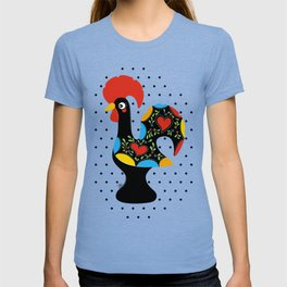 Famous Rooster Lucky Charm & Polka Dots T-shirt