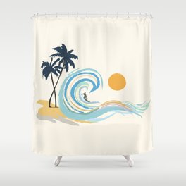 Minimalistic Summer II Shower Curtain