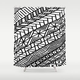 Quick Doodle Shower Curtain