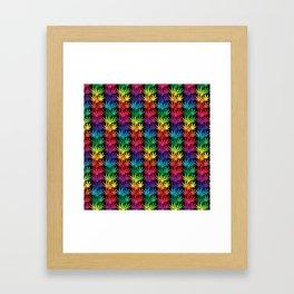 Cannabis Rainbow Framed Art Print
