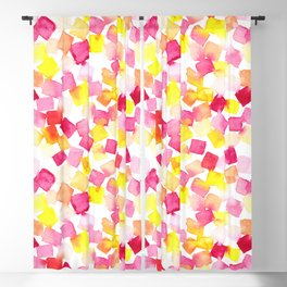 Colorful stains summer watercolor print Blackout Curtain