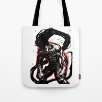 hunter x hunter Tote Bags featuring Angry Gon Transformation Hunter X Hunter by Prince Of Darkness