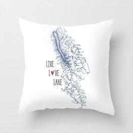 Owasco Live Love Lake Throw Pillow