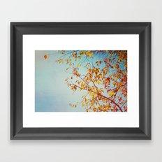 textured leaves. Framed Art Print