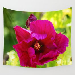 Jazzberry Jam Hibiscus Wall Tapestry