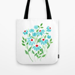 Turquoise World Tote Bag