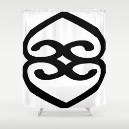 Asase Ye Duru Adinkra Symbol Shower Curtain