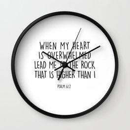 Psalm Wall Clock