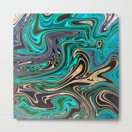 Gorgeous Marble Style - Paradise Metal Print