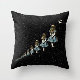 Infinite Wondering Nights - Alice In Wonderland Throw Pillow