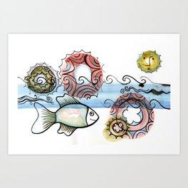 Life on the Earth - The Ocean Art Print