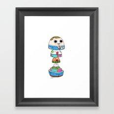 Crude Play Framed Art Print