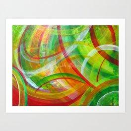 """Colorful Transparencies""- 50x40 - acrilic on canvas Art Print"