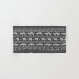Ugly christmas sweater | Border collie grey Hand & Bath Towel