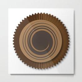 Chocolate Box Swirl Metal Print