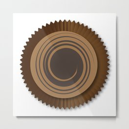 Chocolate Box Swirl Metal Print