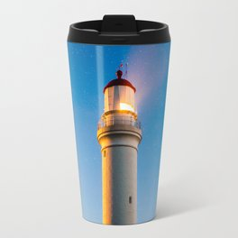 Lighthouse at night Travel Mug