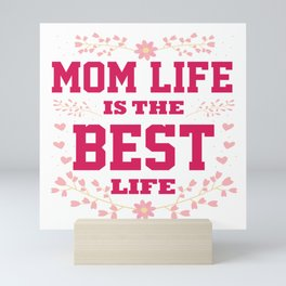 Cute Mother Day Message Best Mum Mom Quote Gift Mini Art Print