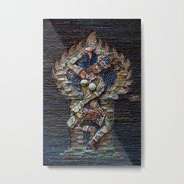 Mosaic Stone Figurine Metal Print