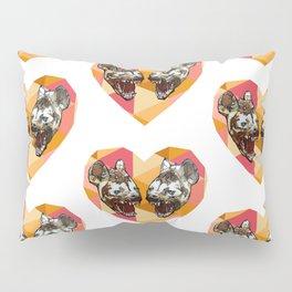 Jess N' Brooke Graphic Hyena Fractal Heart Pillow Sham