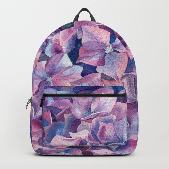 Violet hydrangea Backpack