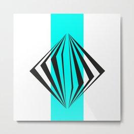 abstract geometric straight lines Metal Print