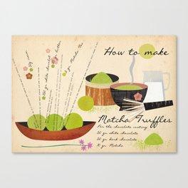 How to make Matcha Truffles Canvas Print