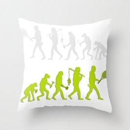 Evolution of Tennis Species Throw Pillow