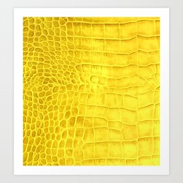 Croco leather effect - yellow Art Print