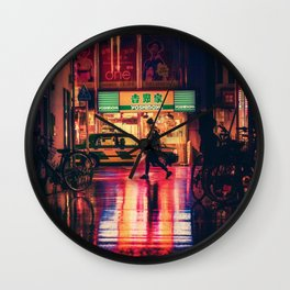 The light of night's streets_5 Wall Clock