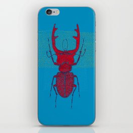 Stitches: Red stag iPhone Skin