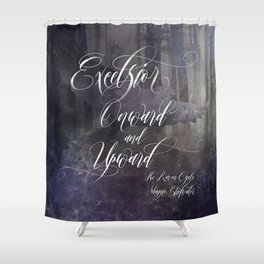 Excelsior. The Raven Boys. Shower Curtain