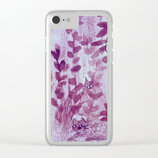 hiding cats Clear iPhone Case