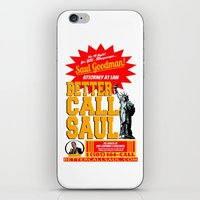 better call saul iPhone & iPod Skins featuring BETTER CALL SAUL  |  BREAKING BAD by Silvio Ledbetter