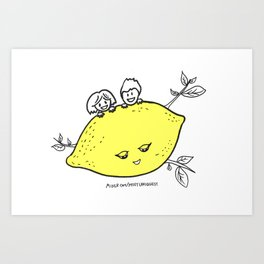Lemon Love Art Print