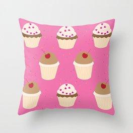 #cupcakelove Throw Pillow