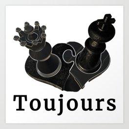 Toujours Art Print