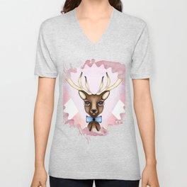 Pink Deer - Ciervo Rosa Unisex V-Neck