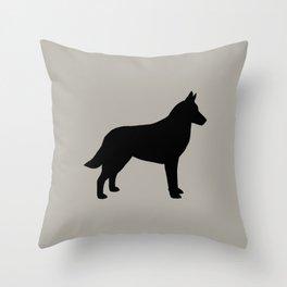 Belgian Malinois Silhouette Throw Pillow